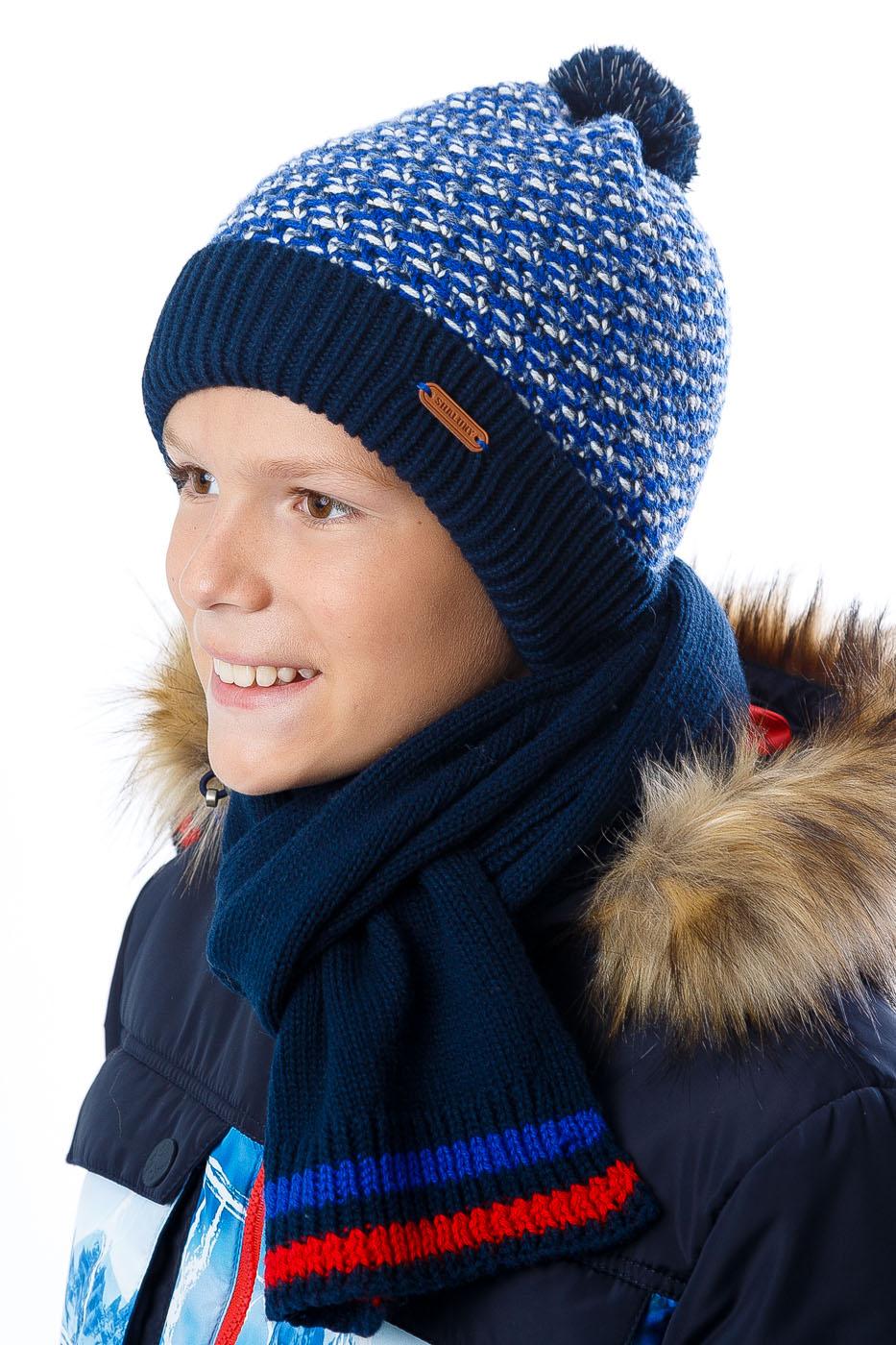 Шарф и шапка для мальчика (37 фото комплект вязаные зимние)